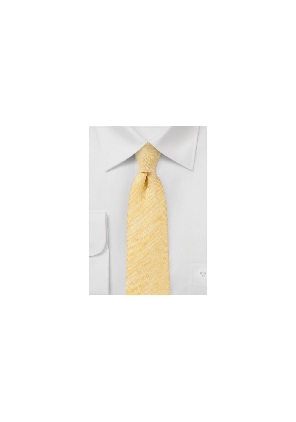 Skinny Tie in Vintage Yellow