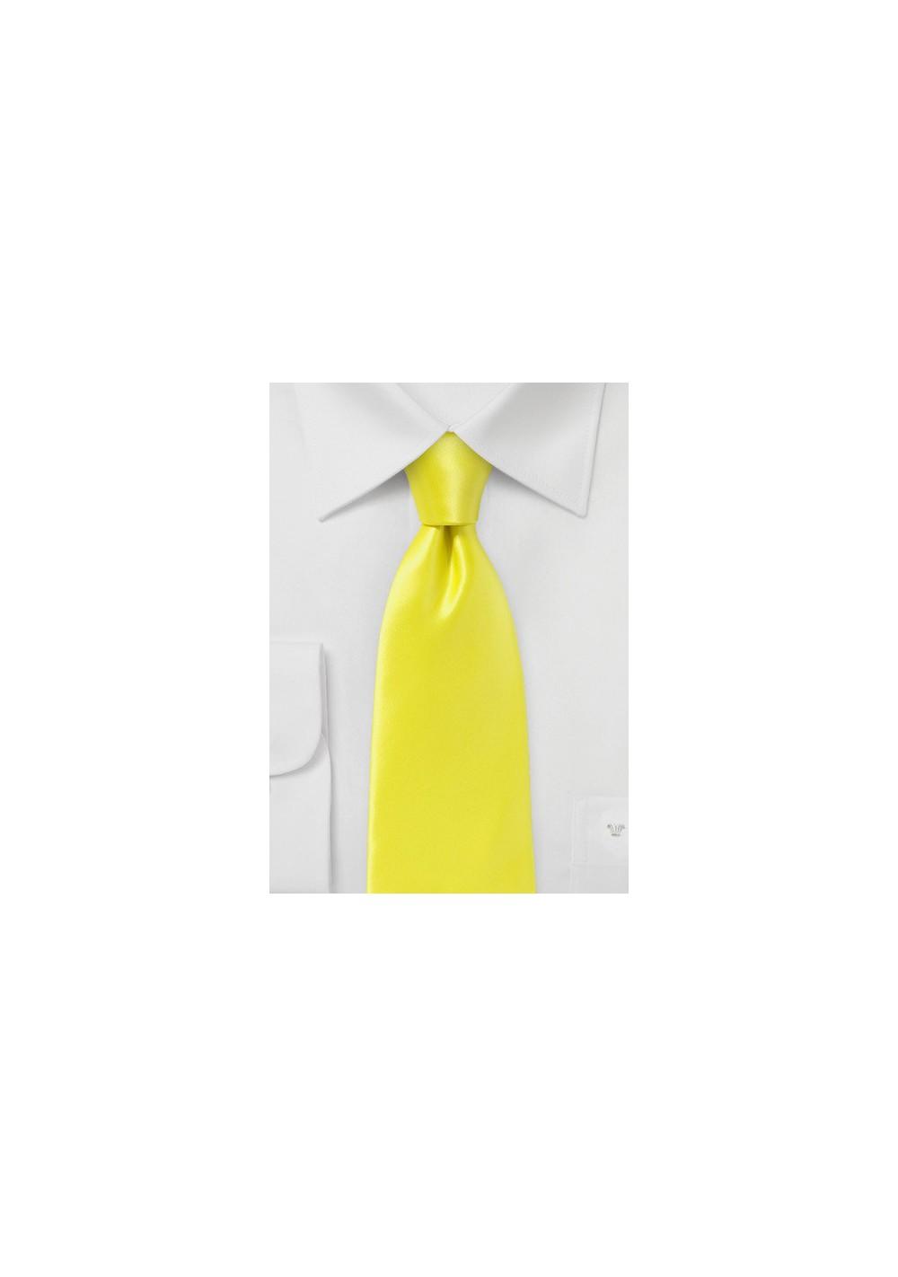 Bright Lemon Necktie in Pure Silk