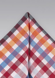 Seersucker Pocket Square in Brights