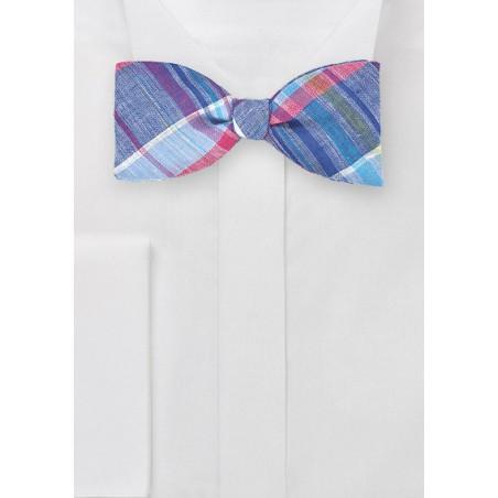 Madras Freestyle Bow Tie