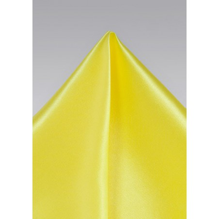 Bright Sun Yellow Pocket Square in Silk
