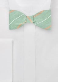 Striped Bow Tie in Vintage Greens