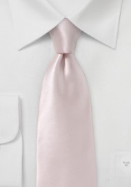 Ultra Light Pink Silk Necktie