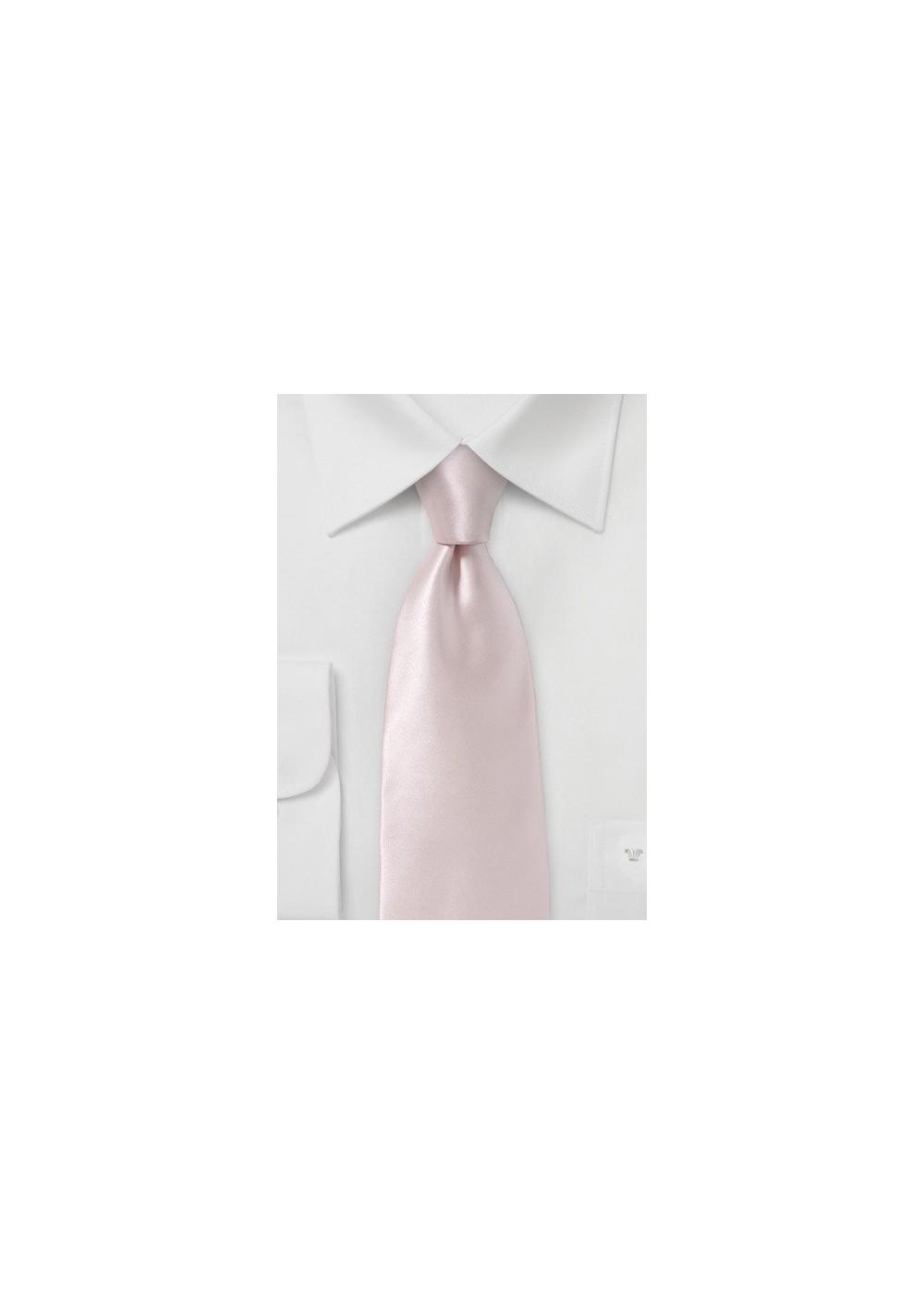 Ultra Light Pink Silk Necktie