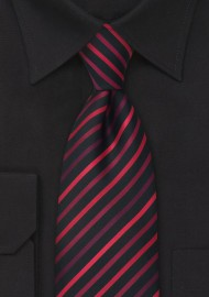 Red and Black Striped Kids Necktie