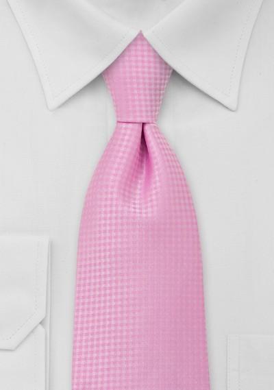 Light Pink Mens Necktie in XL Length