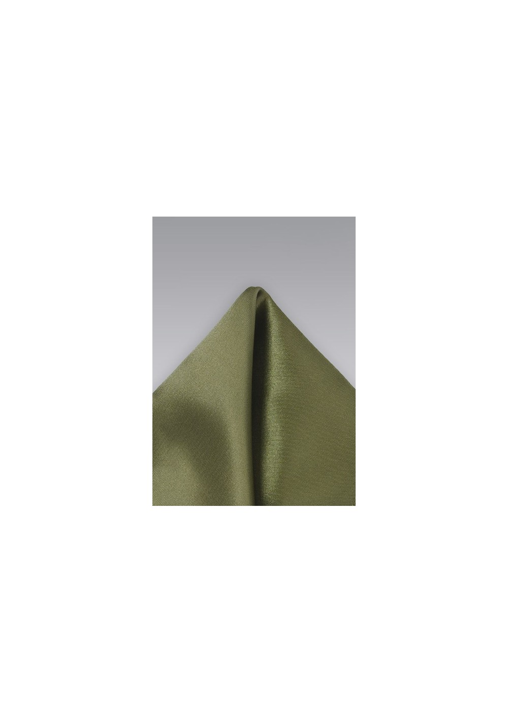 Solid Olive Green Pocket Square