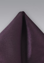 Solid Pocket Square in Berry Color