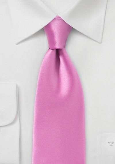 Solid Pink Men's Necktie