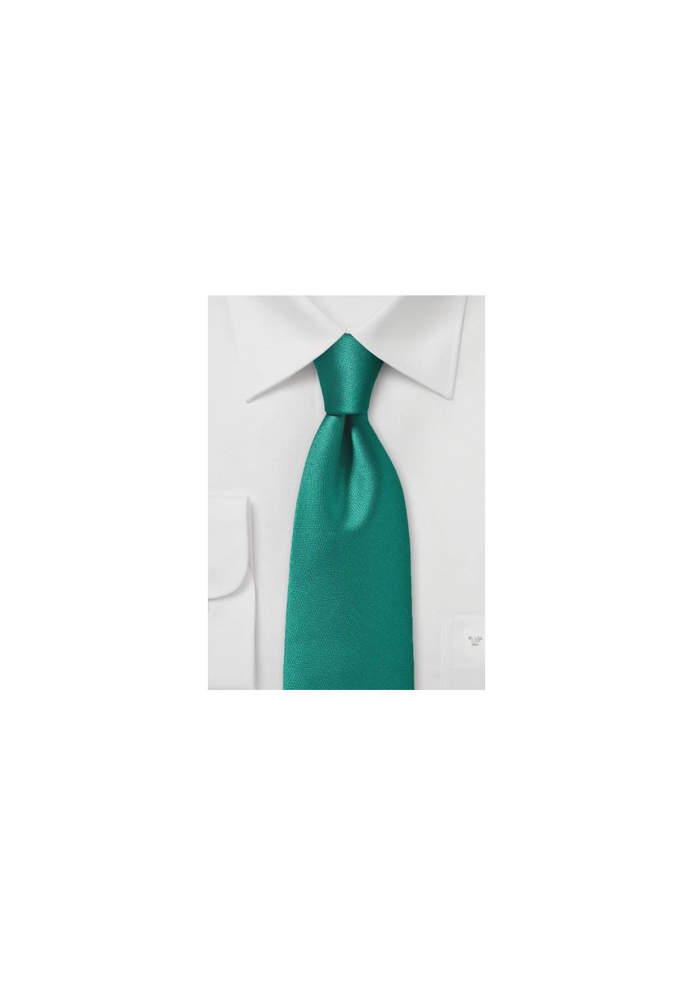 Elegant Solid Emerald Green Necktie