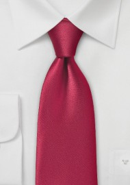 Pure Microfiber Cherry Colored Necktie