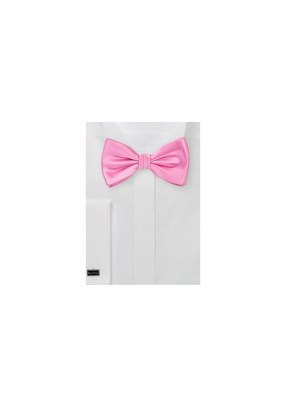 Solid Bright Pink Bow Tie