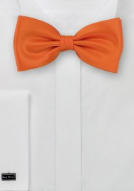 Solid Bow Tie in Orange