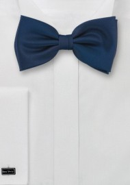 Dark Blue Bow Tie in Solid Color