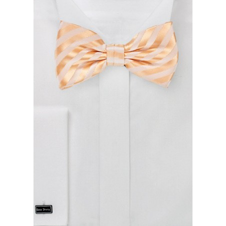 Solid Peach Colored Men's Bow Tie