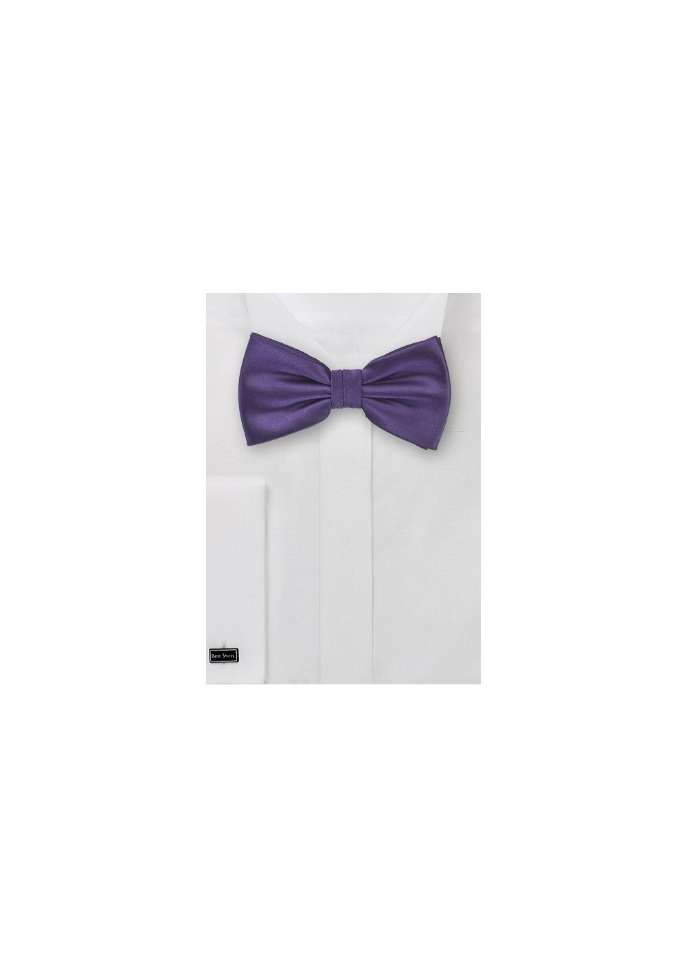 Solid Mens Bow Tie in Purple