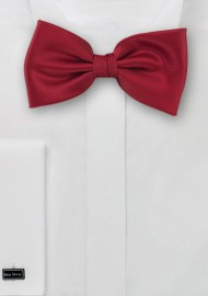 Solid Cherry Red Men's Bow Tie