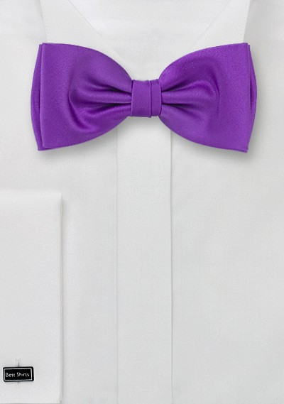 Solid Bright Purple Bow Tie