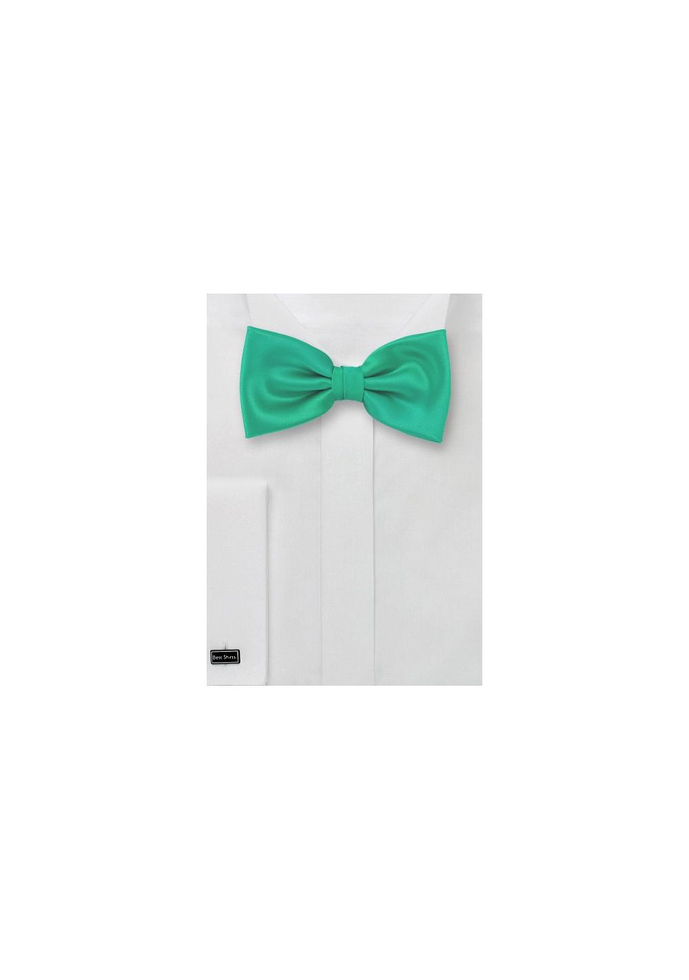 Bright Jade Green Bow Tie