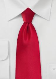 Solid Necktie in Cherry Red