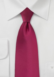 Crimson Red Colored Tie for Men