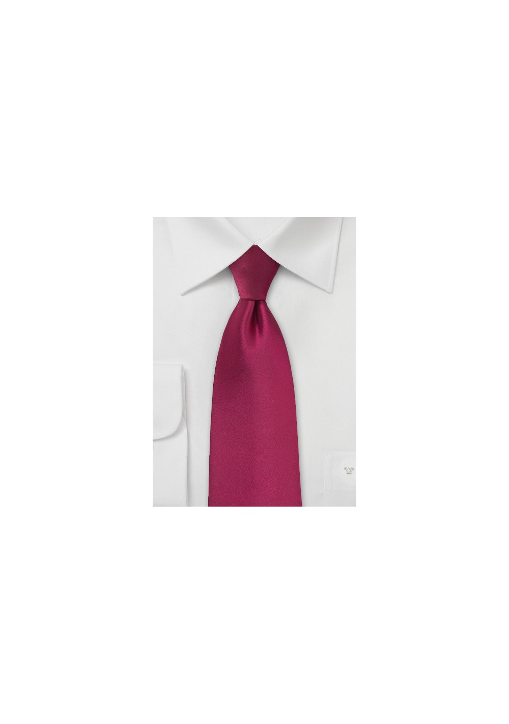 Crimson Red Colored Tie for Men