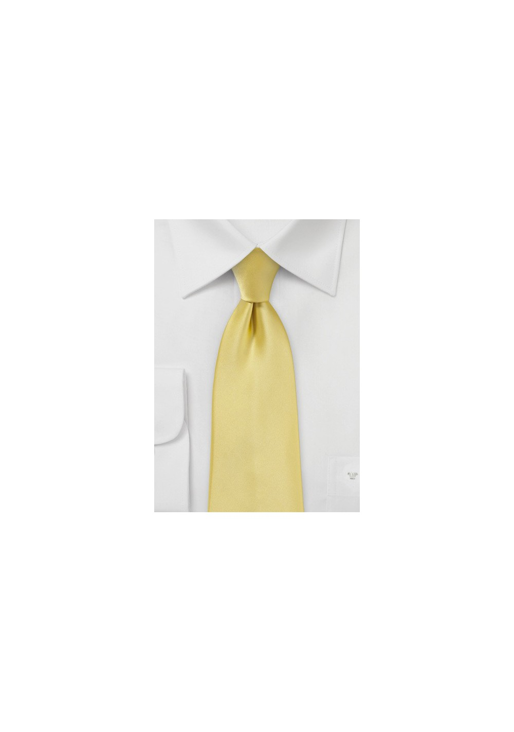 Solid Necktie in Butter