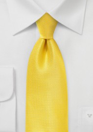 Bright Primary Yellow Kids Tie