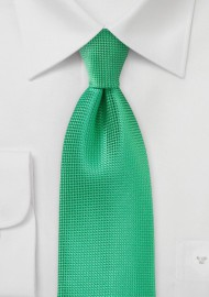 Textured Spring Green Necktie for Kids