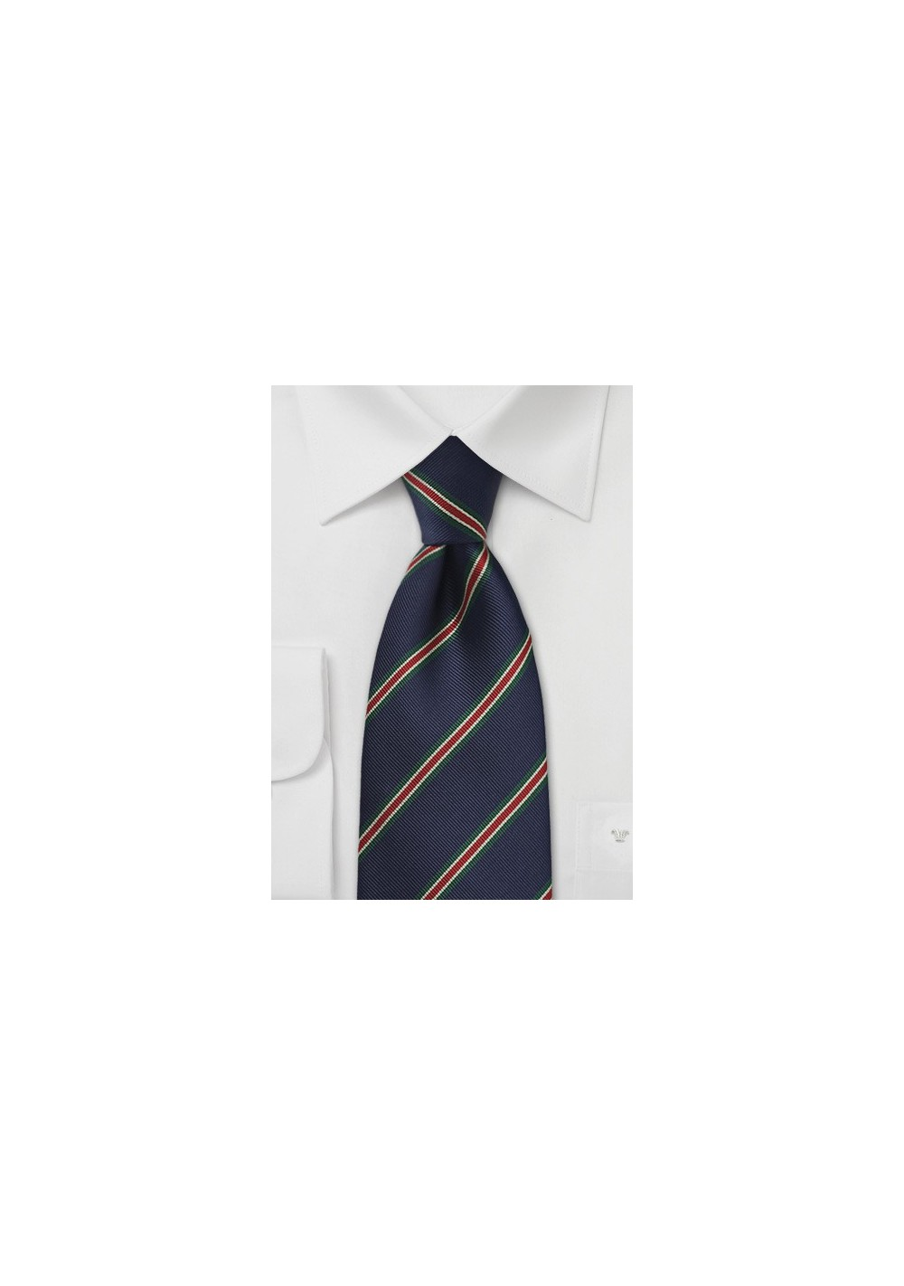 Kids Regimental Striped Tie in Navy