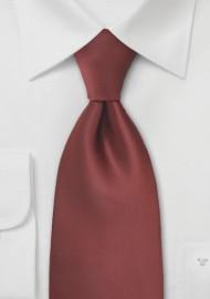 Dark Cognac Brown Tie in XL Length