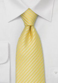 Bright Yellow Summer Stripe Tie