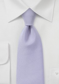 Ribbed Tie in Light Lavender in Kids Size