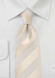 Ivory and Cream Striped Kids Necktie