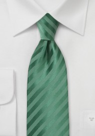 Solid Striped Tie in Pine Green