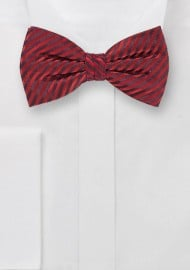 Waled Textured Bow Tie in Cherry Red
