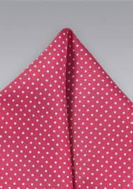 Dark Coral Pin Pocket Square