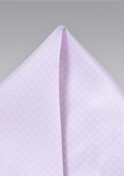 Light Lavender Pocket Square with Tiny Dots
