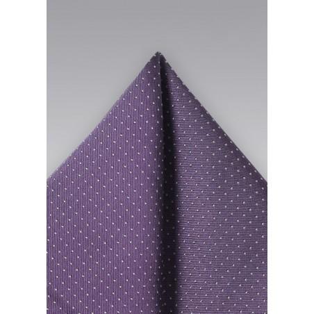 Grape Hued Silk Pocket Square