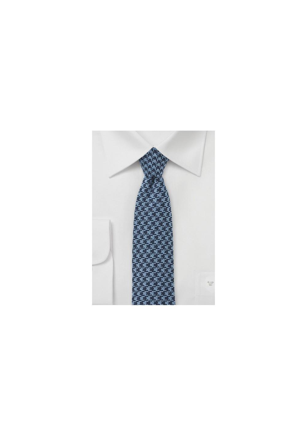 Blue Dogstooth Necktie