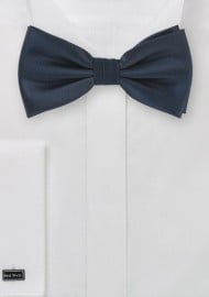 Solid Pre-Tied Bow Tie in Midnight Blue