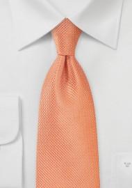 Mandarin Orange Necktie in Extra Length
