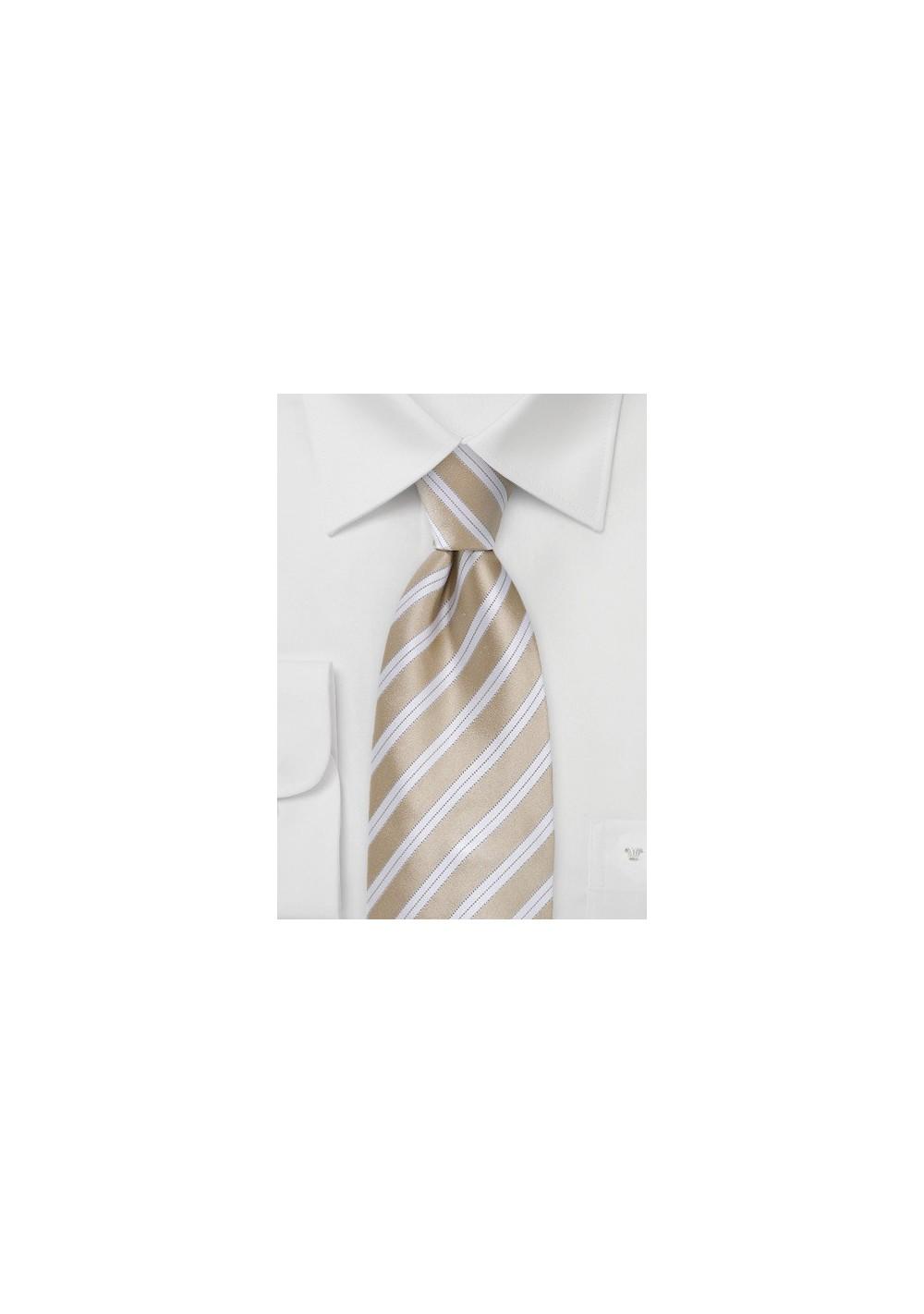 Sweet Almond Striped Tie in XL Size