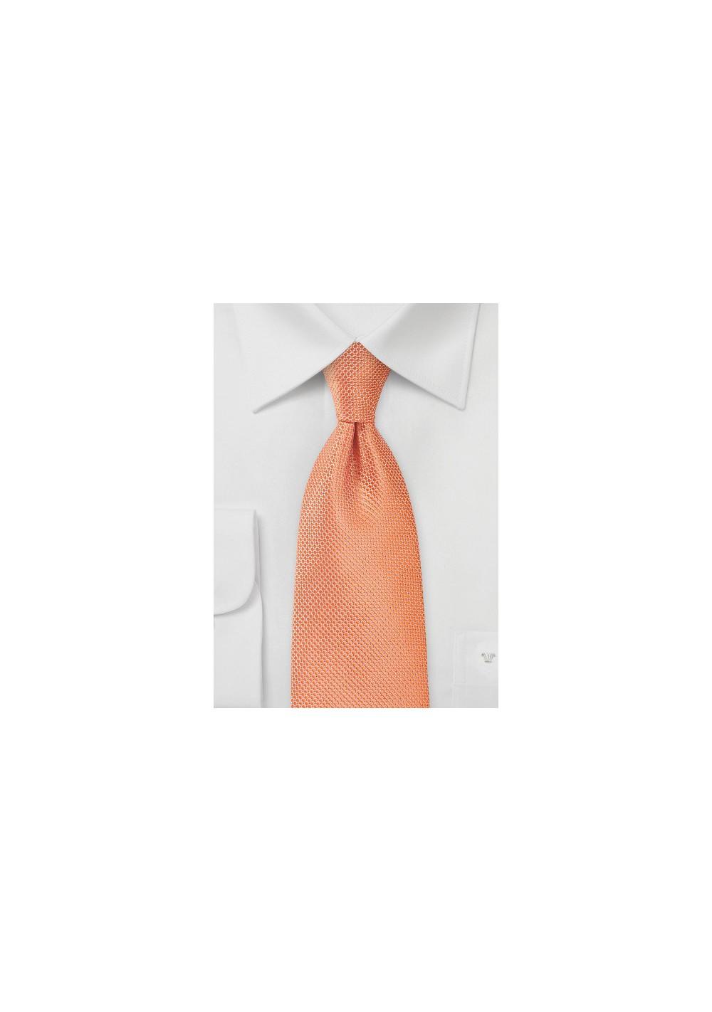 Mandarin Orange Hued Kids Sized Tie