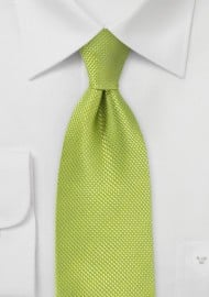 Bright Key Lime Kids Silk Tie