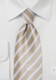 Sweet Almond Striped Tie in Kids Size