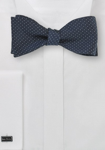 Midnight Blue Self Tie Bow Tie