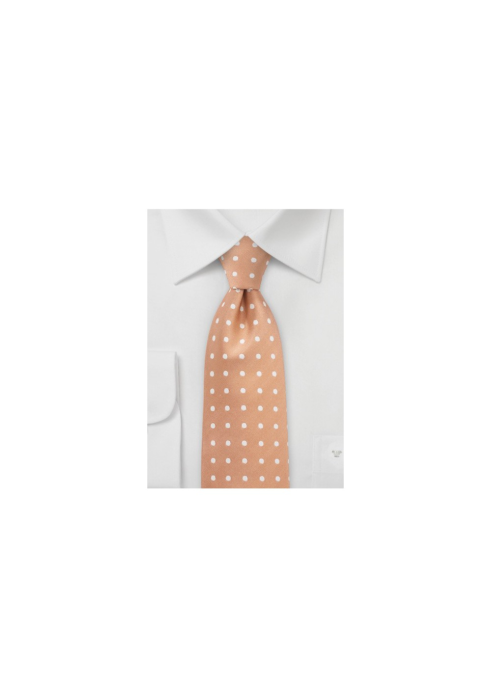 Summer Peach Polka Dot Necktie