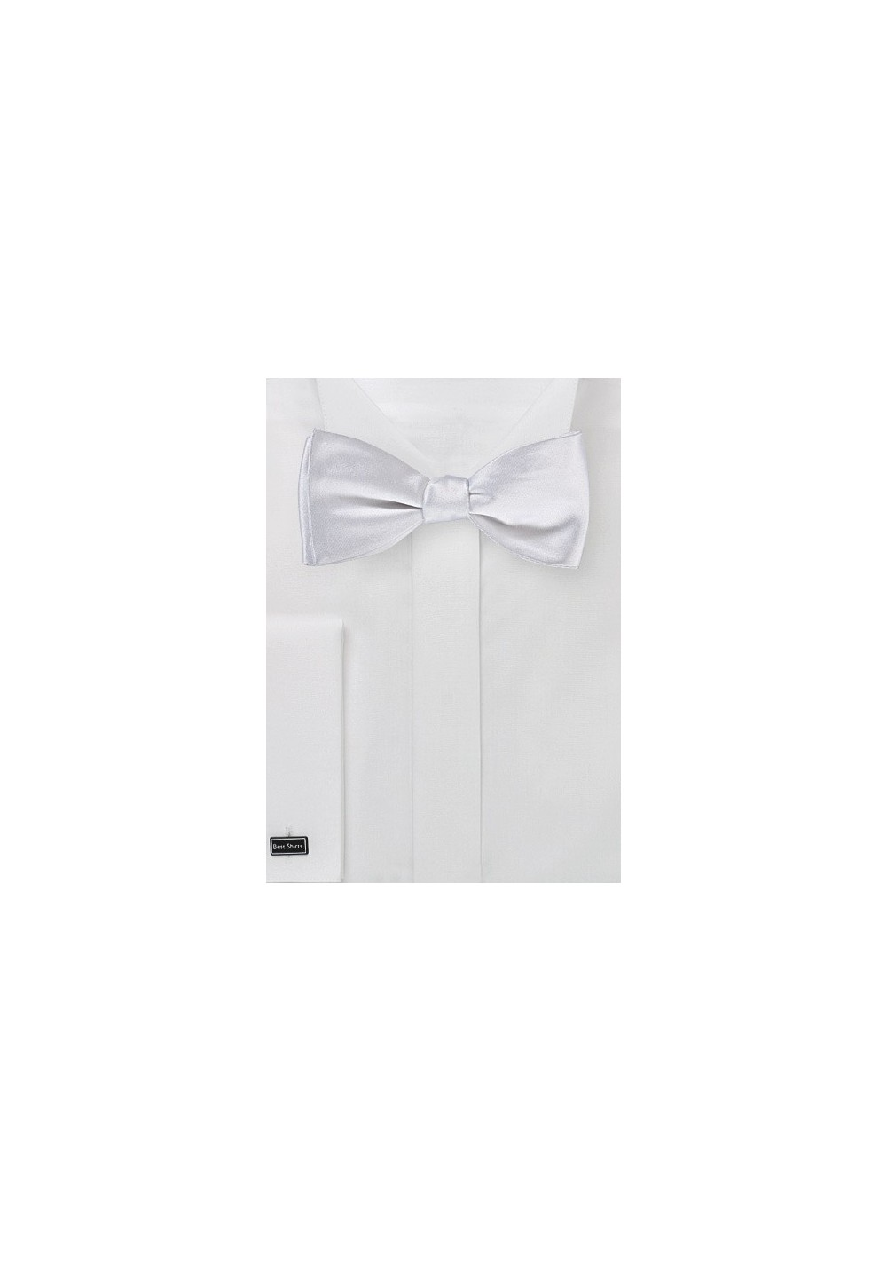 Bright White Self Tie Bow Tie