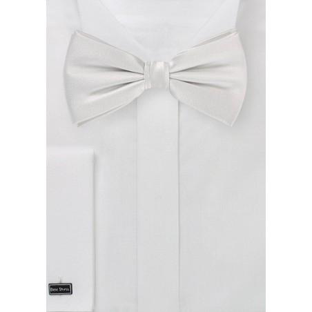 White Pre Tied Silk Bow Tie